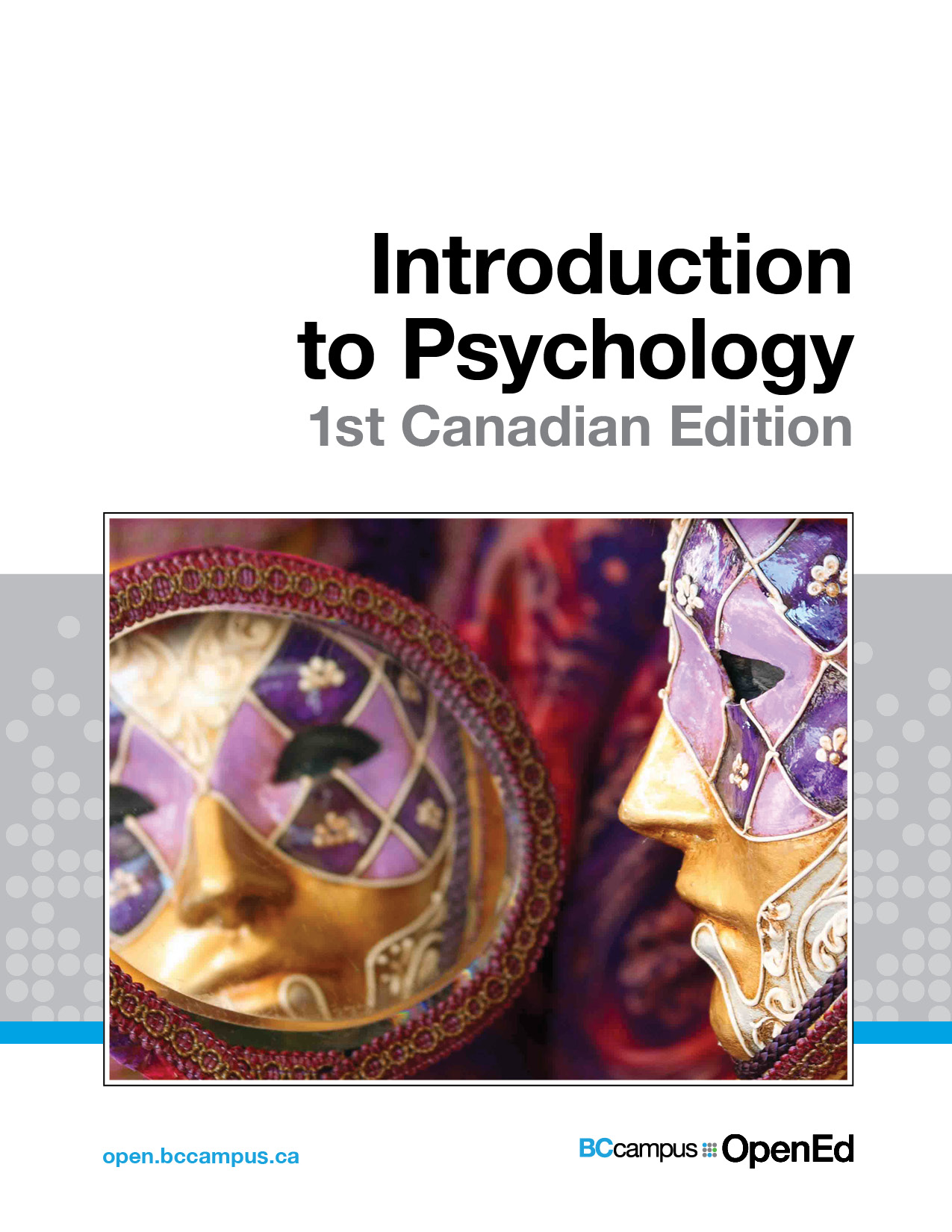 Cover image for Introduction to Psychology - 1st Canadian Edition