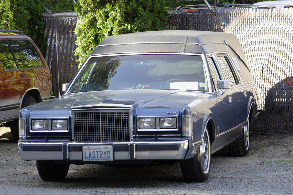 "Figure 7.4. A hearse with the license plate ""LASTRYD."" How would you view the owner of this car? (Photo courtesy of Brian Teutsch/flickr)"
