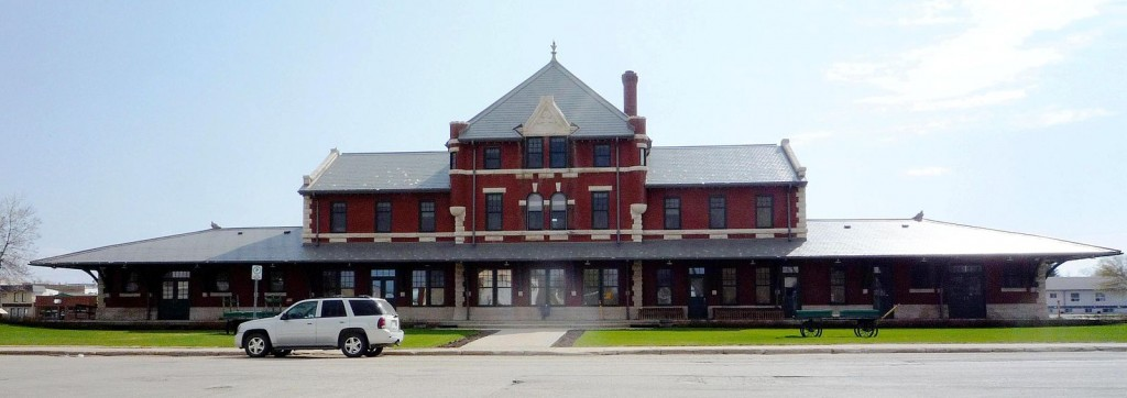 The historic Dauphin Canadian Northern Railway Station, in Dauphin, Manitoba