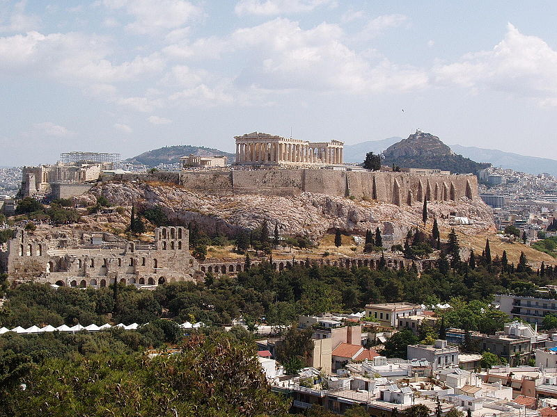 The Greek Acropolis in Athens