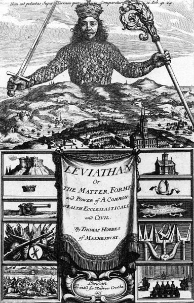 "Frontispiece of Hobbes' ""Leviathan"""
