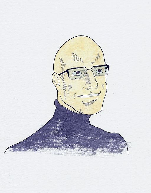 Illustration of Michel Foucault