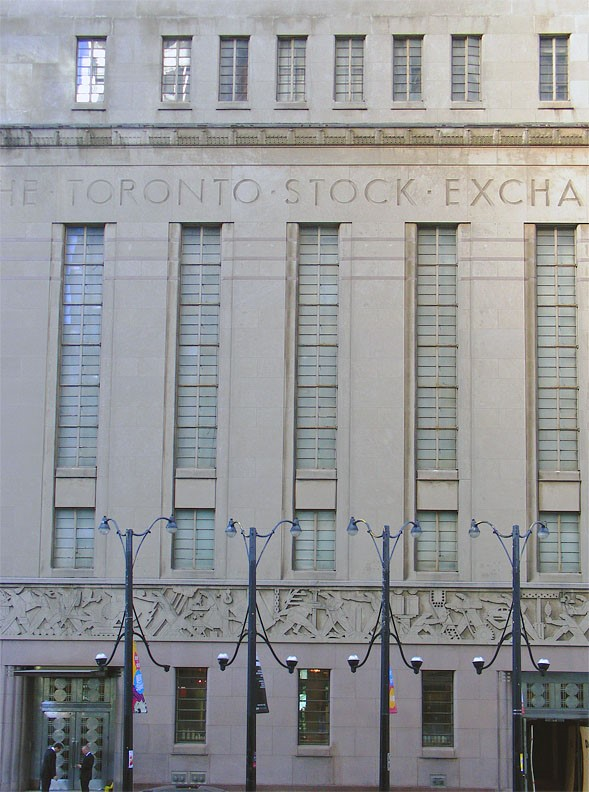 The outside of the Toronto Stock Exchange is shown here.