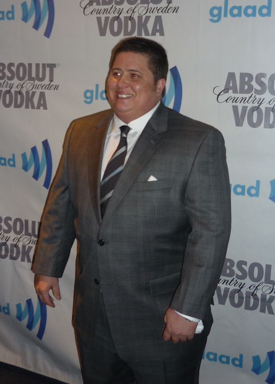 Chaz Bono in a suit and tie