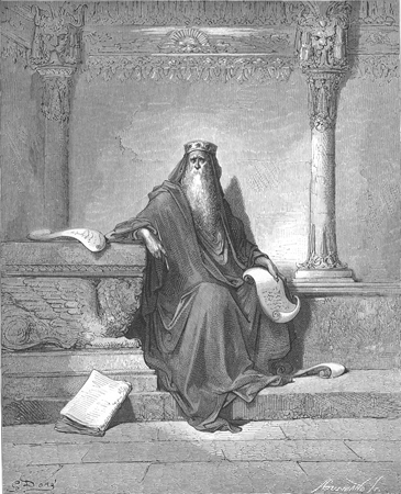 A drawing of King Solomon.