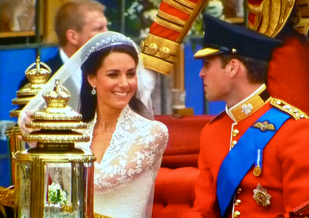 Prince William and Princess Kate on their wedding day.