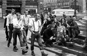 A group of skinheads