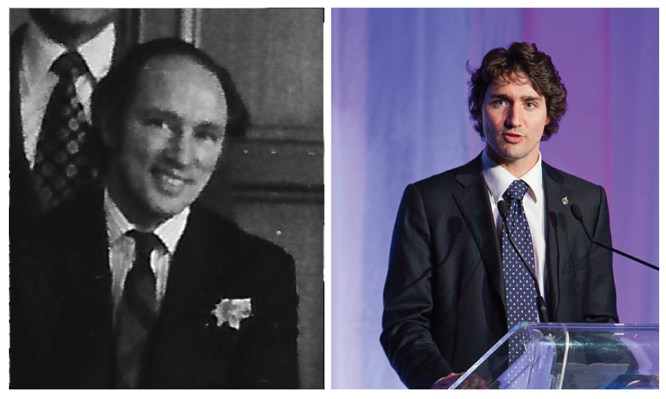 Pierre Elliott Trudeau and his son, Justin Trudeau.