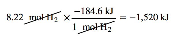 Stoichiometry Calculations Using Enthalpy – Introductory Chemistry