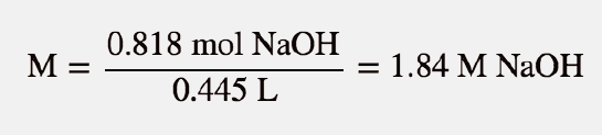 concentrated hcl molarity