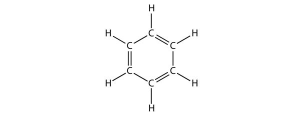 Structural formula for benzene