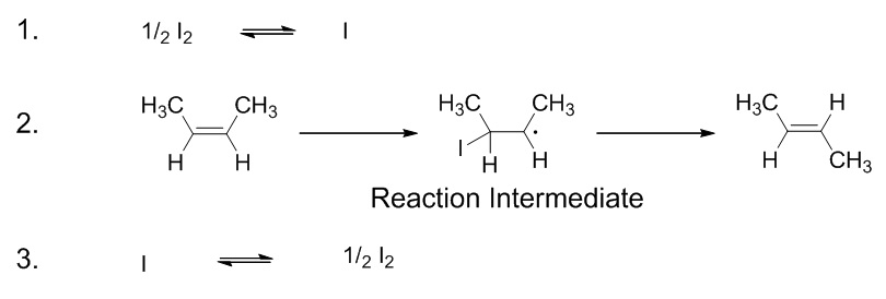 17.7.3. But-2-ene catalyzed isomerization steps.