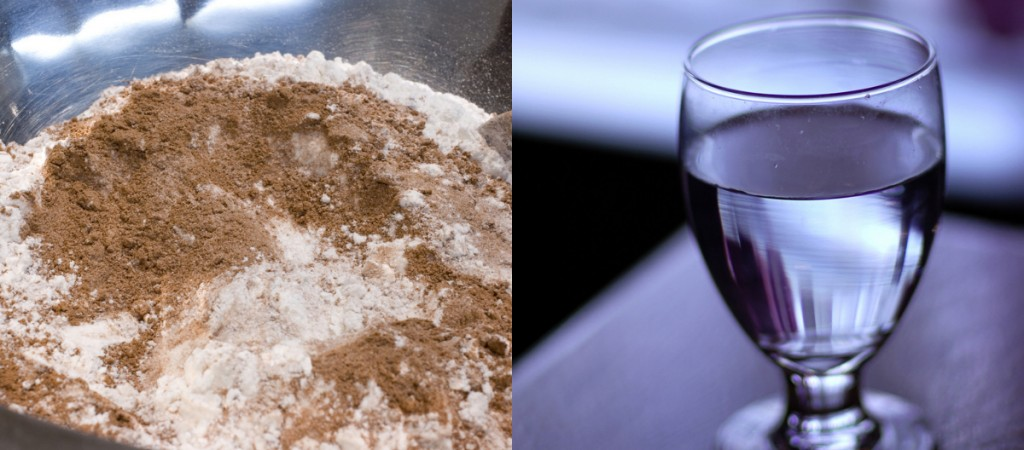 "On the left, the combination of two substances is a heterogeneous mixture because the particles of the two components look different. On the right, the salt crystals have dissolved in the water so finely that you cannot tell that salt is present. The homogeneous mixture appears like a single substance. ""flour and cocoa mixture"" by Jessica and Lon Binder is licensed under Creative Commons Attribution-NonCommercial-NoDerivs 2.0 Generic; ""a glass of water"" by Bryan is licensed under a Creative Commons Attribution-NoDerivs 2.0 Generic."