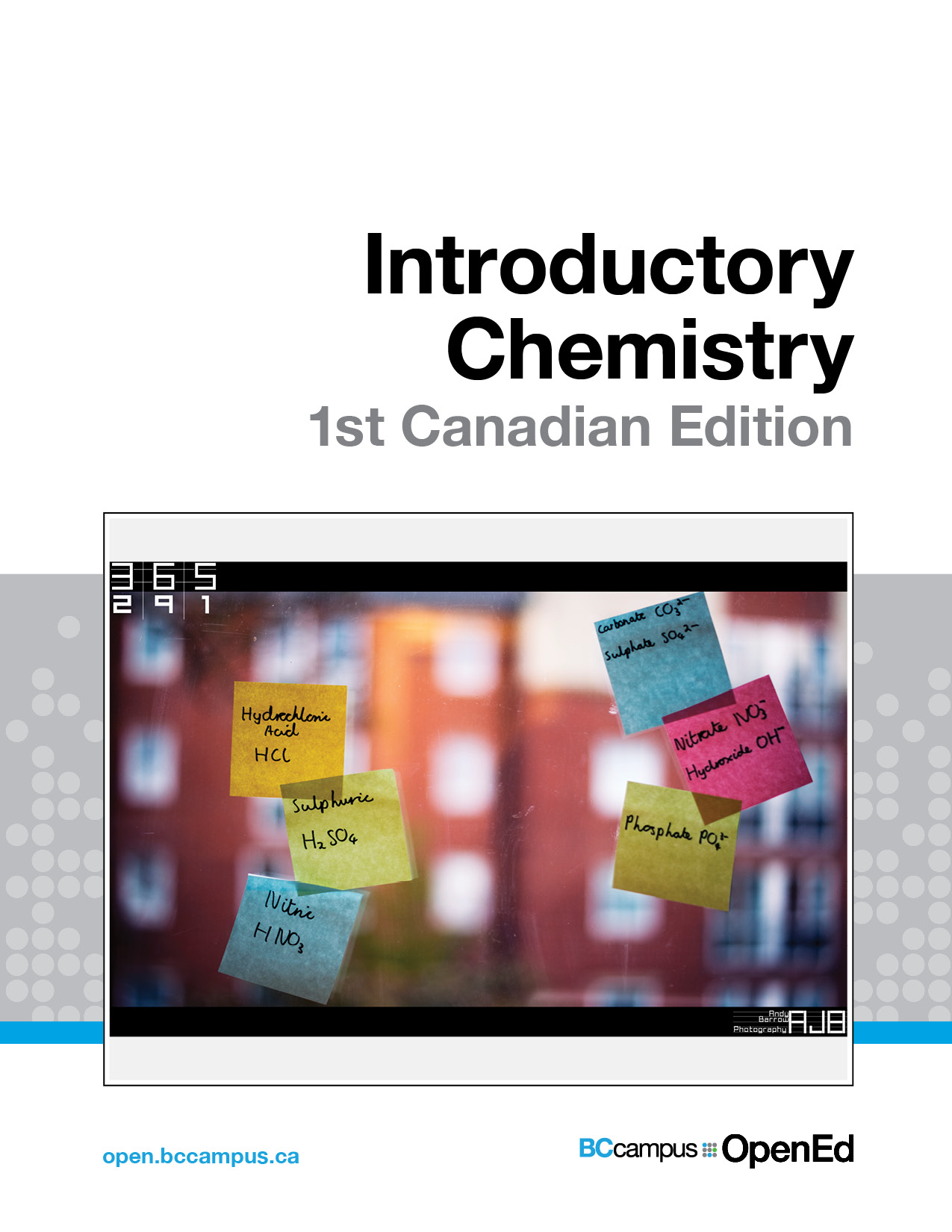 Cover image for Introductory Chemistry - 1st Canadian Edition