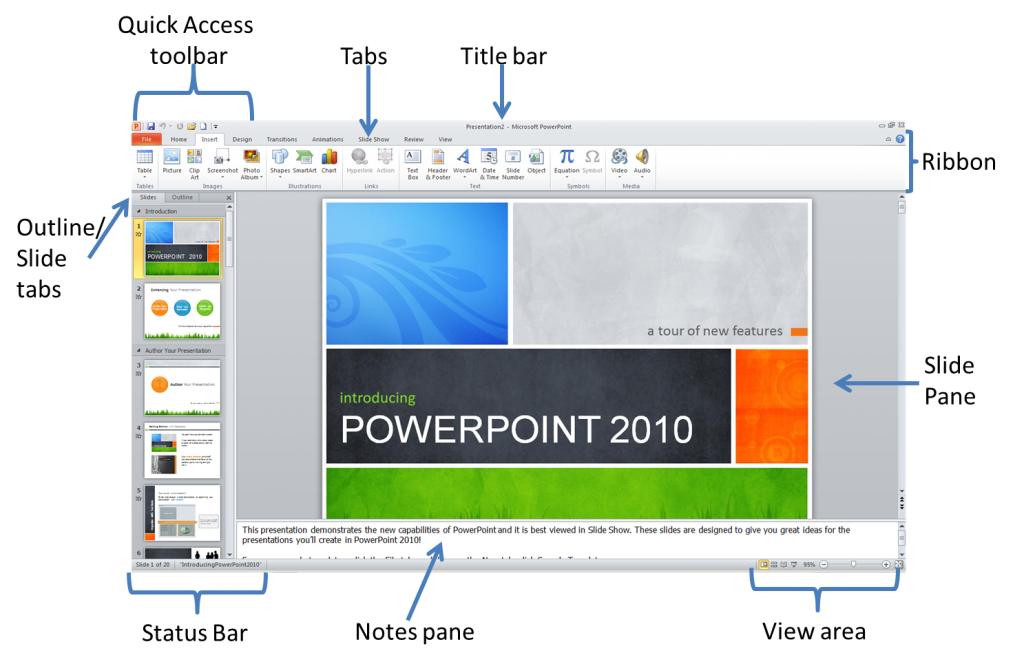 power point window