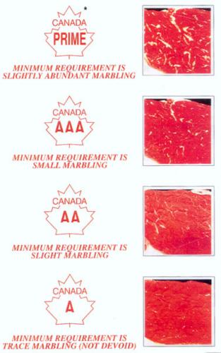 Figure 16 A grade marbling chart. image description available