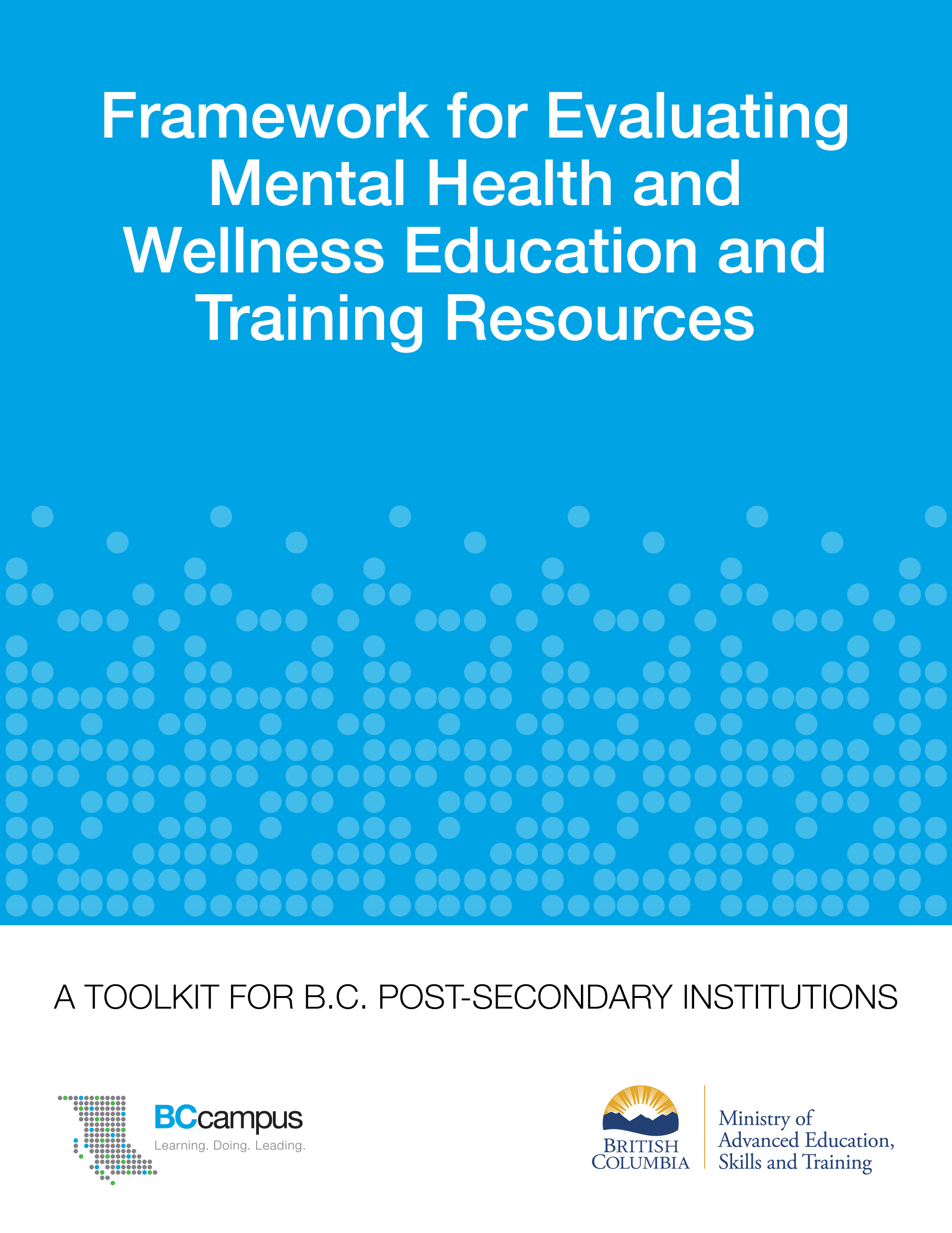 Cover image for Framework for Evaluating Mental Health and Wellness Education and Training Resources
