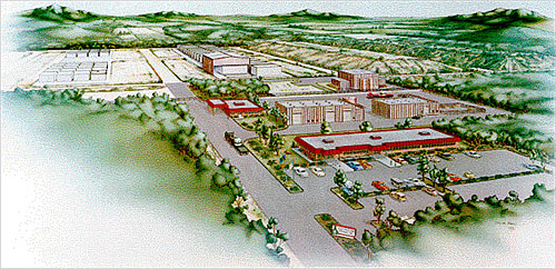 Sketch of the proposed Pennsylvania LLRW disposal facility