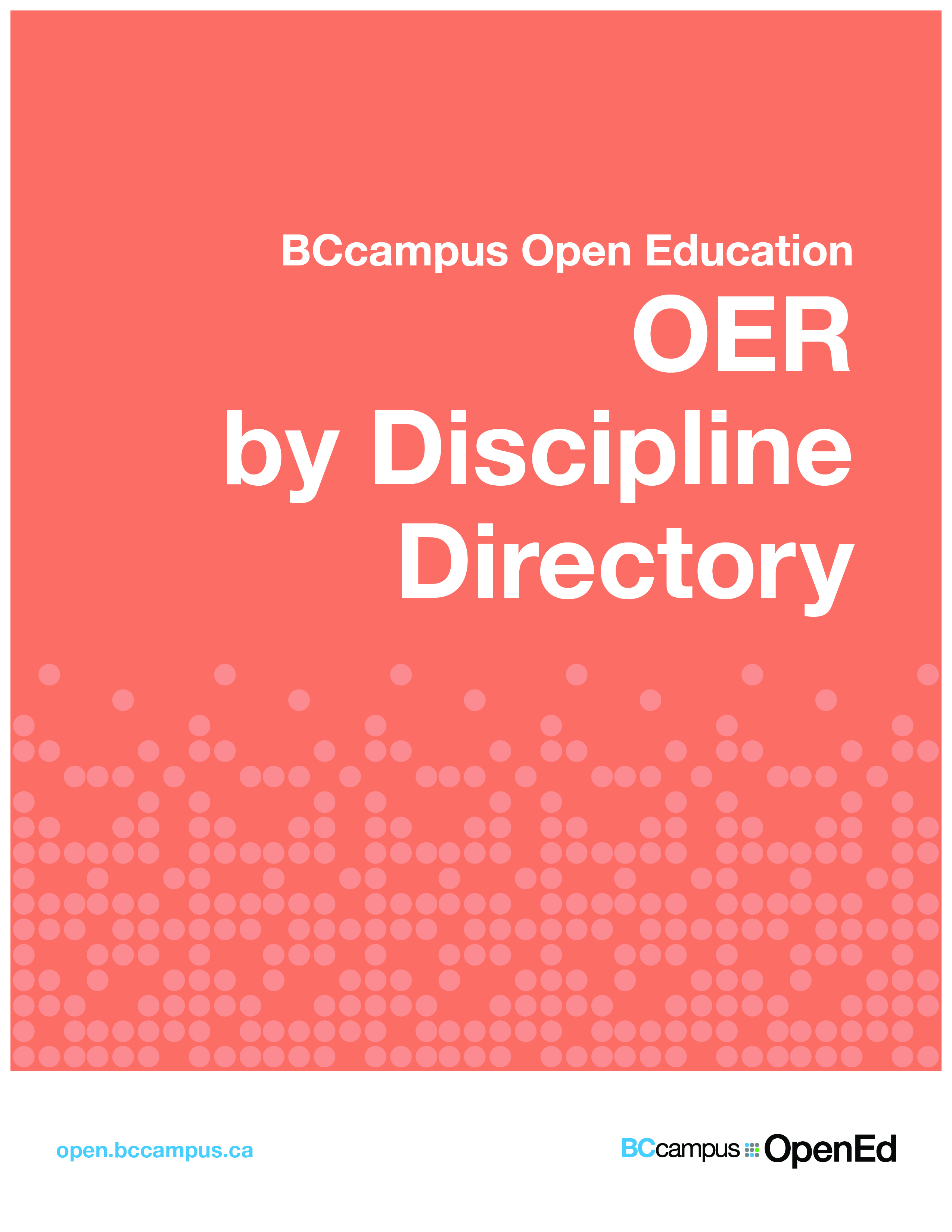Cover image for OER by Discipline Directory