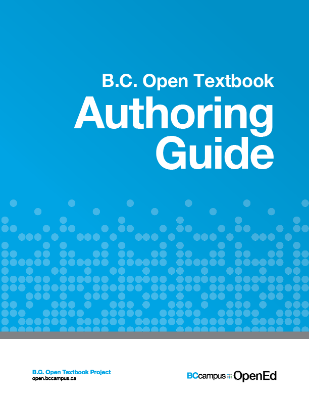 """B.C. OpenTextbook Authoring Guide:  OER/Open Education Authoring Tools"" icon"