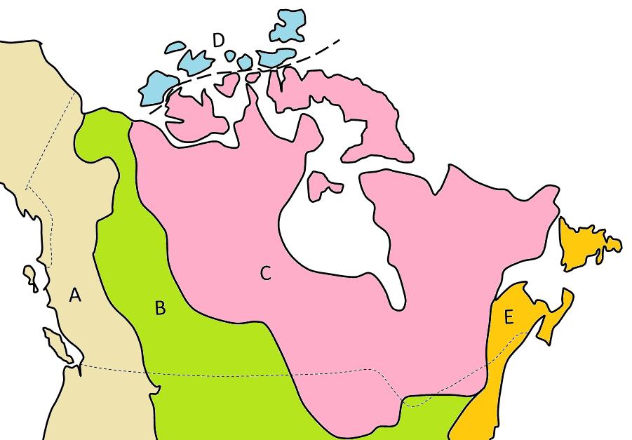 five-main-geological-regions-of-Canada