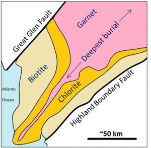 Biotite, Chlorite, Garnet.
