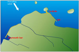 Possible locations of coastal deposits [SE]