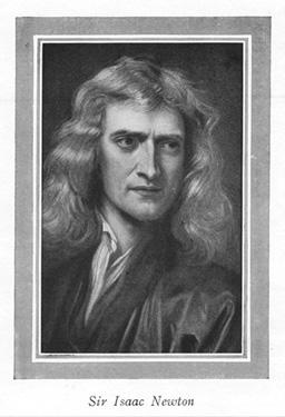 A portrait of Isaac Newton.