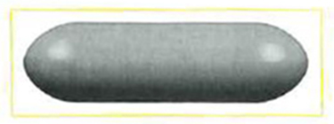 A oblong-shaped conductor.