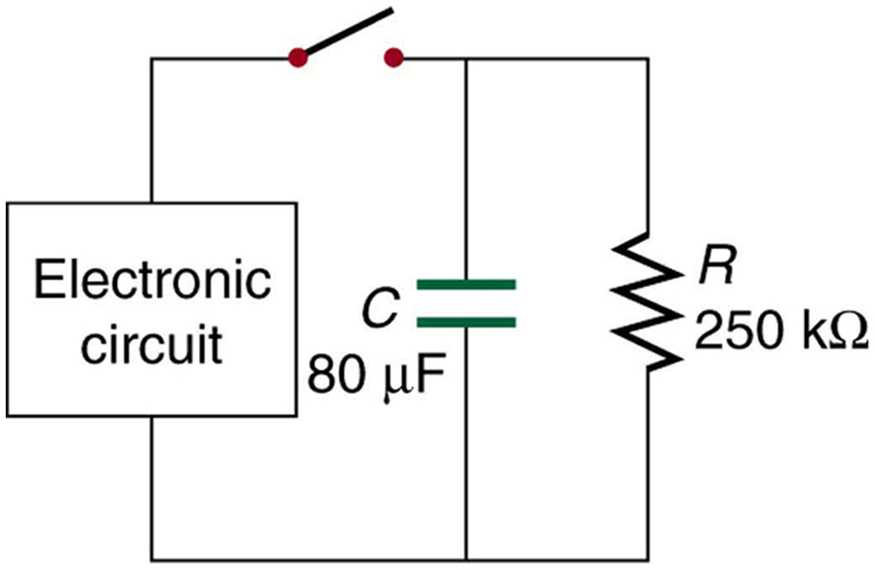DC Circuits Containing Resistors and Capacitors – College Physics