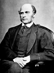 Sir Francis Galton (1822-1911) was a largely self-trained British social scientist, the half-cousin of Charles Darwin, and the figure most readily associated with Eugenics. It is Galton who is credited with coining the dichotomy: nurture vs. nature. https://commons.wikimedia.org/wiki/File:Francis_Galton_1850s.jpg