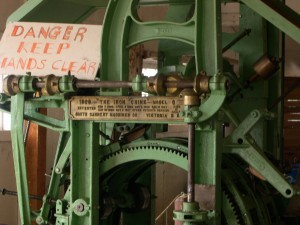 """It would be difficult not to be simultaneously impressed by innovative machinery like this one and concerned about the displacement of labour that it entailed. The """"Iron Chink"""" revolutionized the salmon canning industry on the Pacific Northwest coast. [What constitutes """"appropriate credit"""" here?] """"https://www.flickr.com/photos/upyernoz/780629/in/photostream/"""