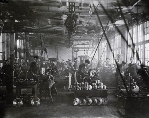 War industries increased demand for labour even as large numbers of workers were heading overseas. A scene from a Canadian Linderman Co. plant. (Canada, Dept. of National Defence/Library and Archives Canada) http://collectionscanada.gc.ca/pam_archives/index.php?fuseaction=genitem.displayItem&lang=eng&rec_nbr=3371011&rec_nbr_list=99760,3371011,102341,3627981,3627979,3627978,3627974,3627972,3627956,3627919