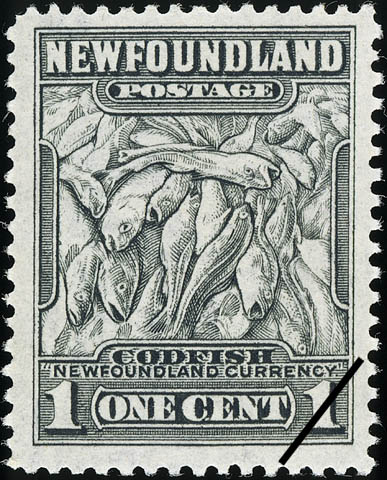1-cent Newfoundland stamp depicting cod.