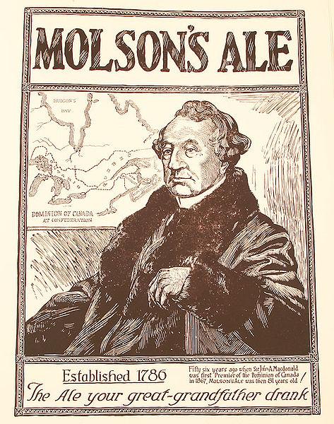 Molson advertisement. Long description available.