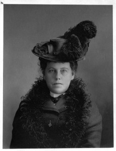 Mrs. Willoughby Cummings (née Emily McCausland, 1851-1930) was a key figure in the National Council of Women. and pioneer female journalist and editor at the Globe newspaper.