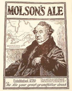 The Molson Brewing Company was probably banking on Macdonald's reputation as a dignified Victorian politician and not as a heavy drinker when they conceived this 1924 advertising campaign.