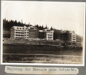 The largest of British Columbia's mental health asylums was variously known as Essondale and Riverview. Deinstitutionalization of mental health patients in the 1980s depopulated facilities of this kind. (Source: Mathewson Album. Flickr) https://www.flickr.com/photos/niftyniall/17452253881/in/photostream/