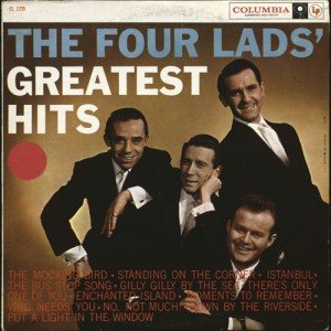 9.x Toronto's Four Lads are the not-so-missing link between the sounds of the 1940s and the beginnings of pop in the 1950s. CC-BY 2.0 https://www.flickr.com/photos/pzed/5440258208