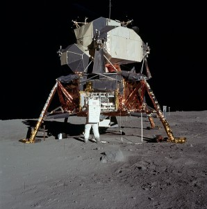 Canadian technical know-how contributed to the Lunar Excursion Module, thanks to lay-offs at Avro. https://commons.wikimedia.org/wiki/File:5927_NASA.jpg