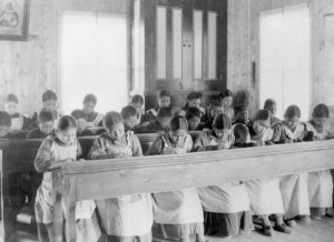 Study period at the Roman Catholic Indian Residential School, at Fort Resolution, NWT, n.d. (Canada, Minister of the Interior, Library and Archives Canada / PA-042133) http://collectionscanada.gc.ca/pam_archives/index.php?fuseaction=genitem.displayItem&rec_nbr=4063309&lang=eng