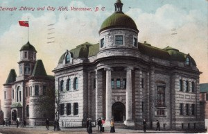 Figure 7.8 Vancouver was one of many Canadian cities to receive a Carnegie Library, which opened in 1903 next door to the City Hall. https://www.flickr.com/photos/45379817@N08/6063596767