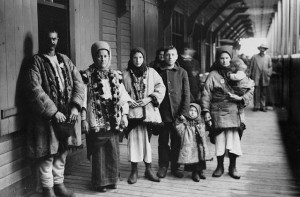 Sifton's ideal immigrants. A family newly arrived from Galicia, ca.1911. (Photo by William James Topley / Library and Archives Canada / PA-010401) http://collectionscanada.gc.ca/pam_archives/index.php?fuseaction=genitem.displayItem&rec_nbr=3193424&lang=eng