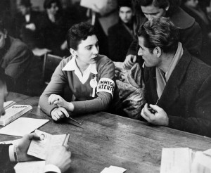 Refugee crisis, 1956. An Immigration Interpreter assists with the interview of a Hungarian applicant. (Canada. Dept. of Manpower and Immigration / Library and Archives Canada / PA-181009) http://collectionscanada.gc.ca/pam_archives/index.php?fuseaction=genitem.displayItem&rec_nbr=3298778&lang=eng