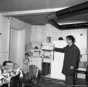 Figure 10.E1 The expropriation of 856 rue Richmond, 17 May 1967. VM94-C1023-038. Archives de la Ville de Montréal. Expropriation.