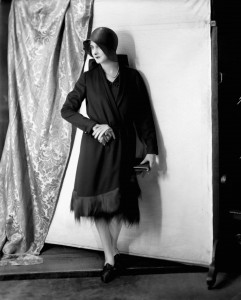 By 1930 dress lengths were back over the knees but the material was still a fraction of what it was before the war. Credit: Library and Archives Canada/PA-053423