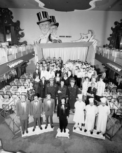 The staff at Chez Paree, a popular Montréal nightclub, in 1951. Four years later it would be set the stage for a spy scandal (see Section 9.4). Credit: Louis Jaques/Library and Archives Canada