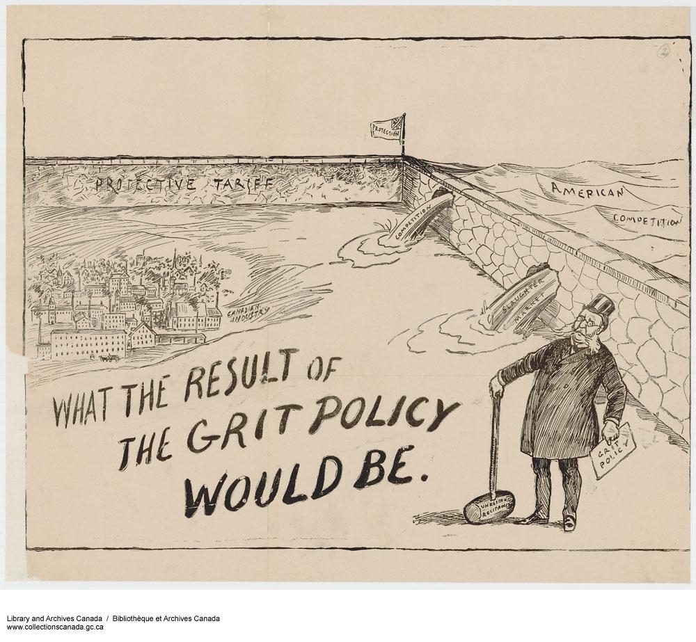Political cartoon. Long description available.