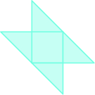 A square is shown with four triangles coming off each side.
