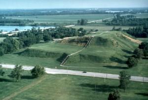 The Cahokia Mounds. Long description available.